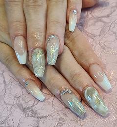Acrylic Design Nails Naturals