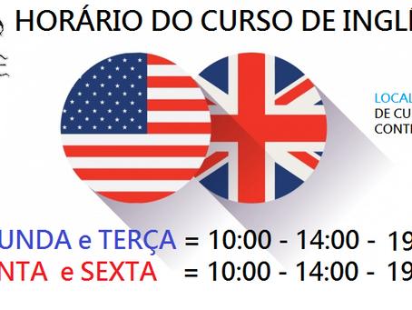 Casa de Cultura Contendas retomará Curso de Inglês na próxima Segunda Feira 11/03!
