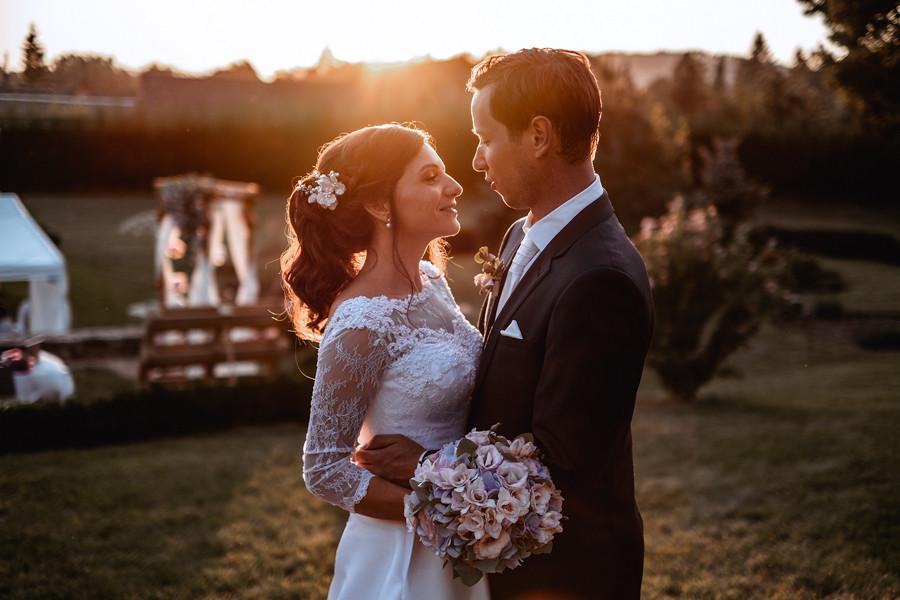svatební focení při západu slunce Zámeček Městečko