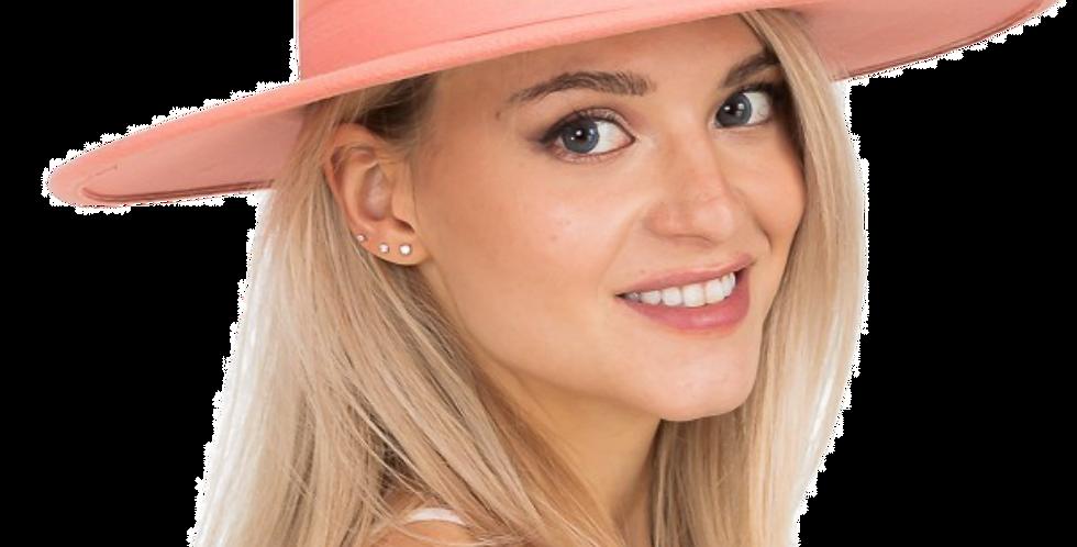 Wide Brim Bolero Pork Pie Crown Hat