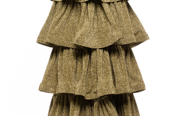 Ruffle Detail Maxi Skirt -PLUS SIZE