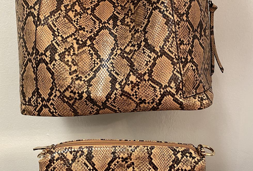 Snake Print 2-in1 Bag