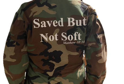"""CAMO """"SAVE BUT NOT SOFT"""" JACKET"""
