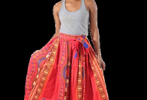 Dashiki Skirt (red)