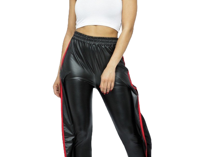 Flaming Faux Leather Pant