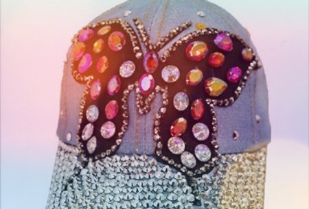 BLING BUTTERFLY CAP