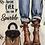 Thumbnail: Knit Graphic V Neck Top