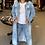 Thumbnail: Distressed Midi Jean Jacket