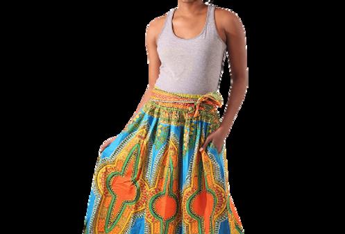 Dashiki Skirt (teal)