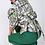 Thumbnail: Puffy Sleeve w/ Waist Bow Tie Print Blouse