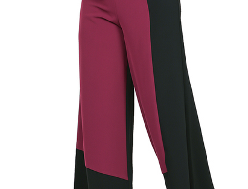 Black/Wine Color Block Pants