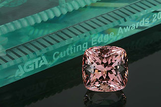 Custom Cut Morganite, which won 1st Place in the 2011 AGTA Cutting Edge Awards