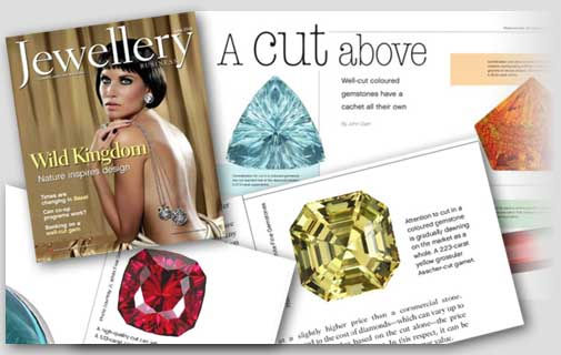 """A Cut Above,"" featuring garnet, spinel, and other gems cut by JL White Fine Gemstones"
