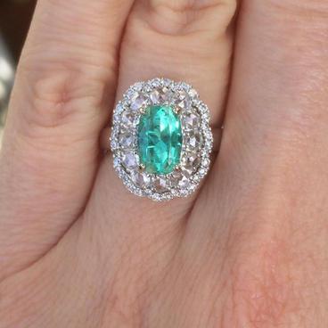 Chrome Beryl Ring