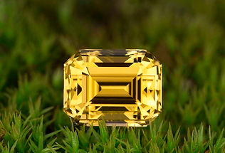 Custom cut yellow tourmaline