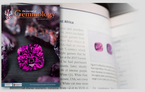 Purple Garnets in the Journal of Gemmology