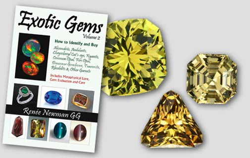 Exotic Gems, Vol 2, featuring chrysoberyl, grossular garnet.