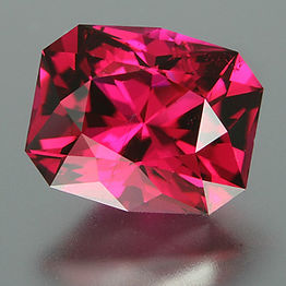 A custom cut rubellite tourmaline, perfect for an engagement ring