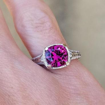 Purple Garnet Ring
