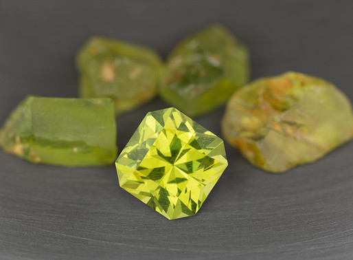 Bright Green Enstatite from Tanzania