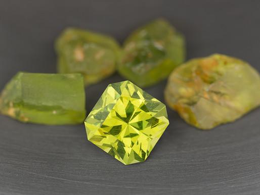 Bright Green Enstatite from Tanzania