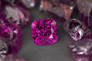 Custom cut purple garnet