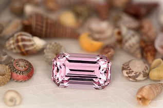 Custom cut pink topaz from Katlang, Pakistan