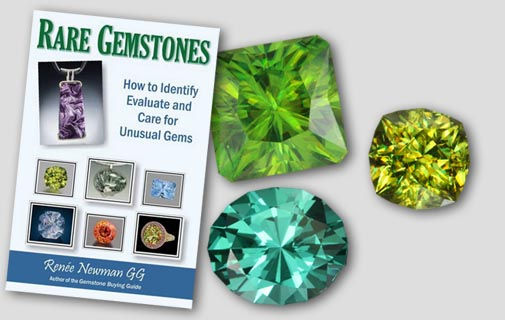 Rare Gemstones, featuring apatite, danburite, and sphene