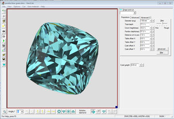 Gem Cutting Design and Optimization Software