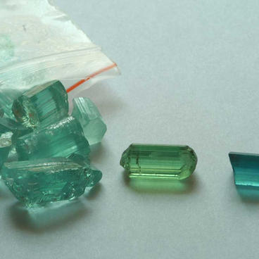 Parcels of uncut tourmaline
