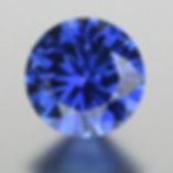 A precision cut blue sapphire, ready for the customer's engagement ring