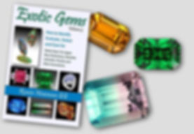 Exotic Gems, Volume 3, featuring numerous tourmalines