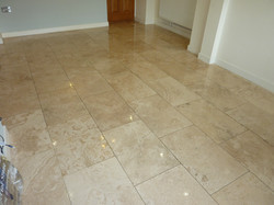 Filled Travertine Before Cleaning