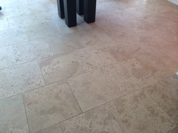 Unfilled Travertine After Cleaning