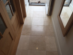 Limestone After Diamond Polishing