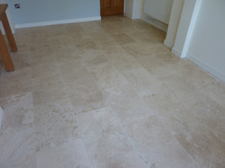 Filled Travertine After Cleaning