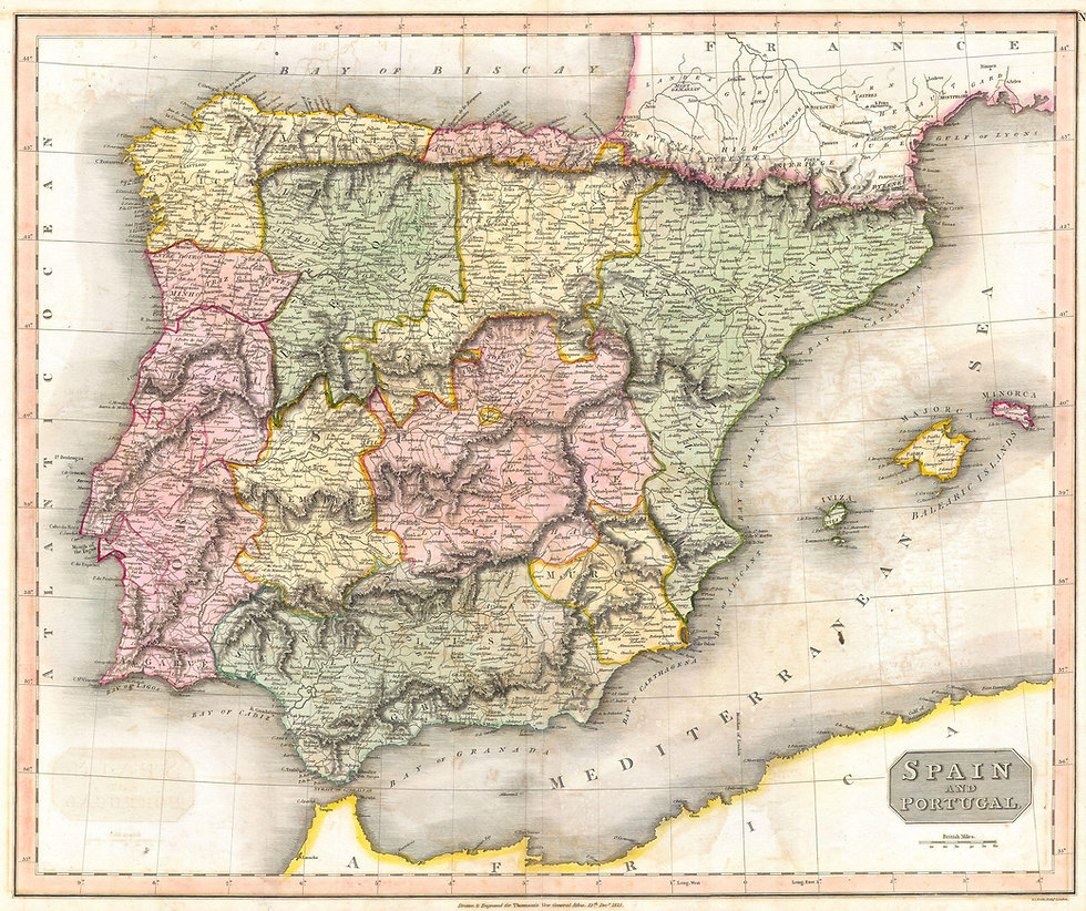 1815_Thomson_Map_of_Spain_and_Portugal_-