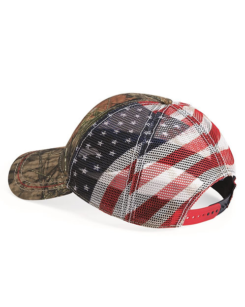 Mossy Oak Country Cap with Mesh Flag Back