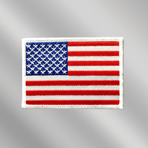 Small Embroidered USA Flag Patch - Iron On