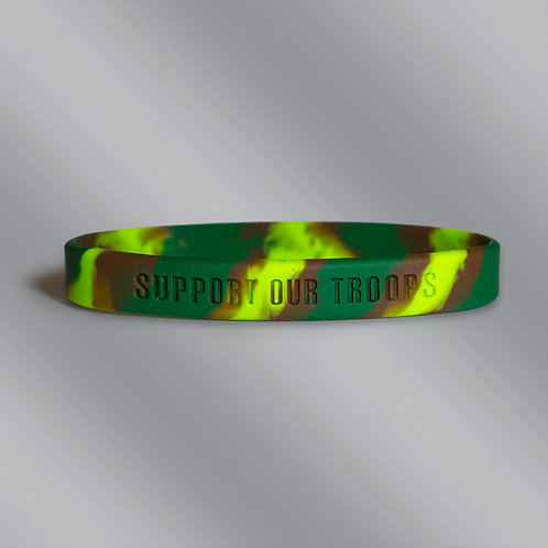 Support Our Troops - Camo Silicone Bracelet