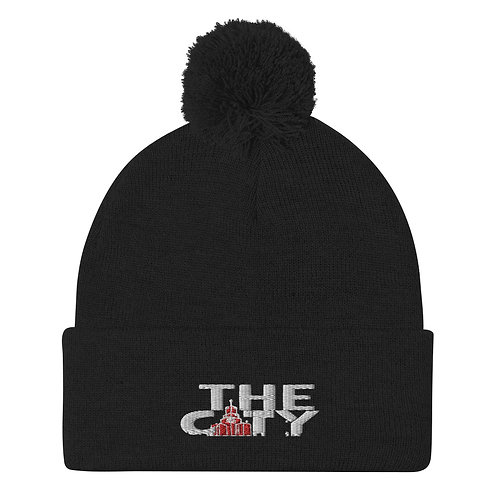 THE C.I.T.Y. Embroidery Beanie - black, red, grey, red/grey