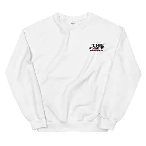 THE C.I.T.Y. Embroidery Sweatshirt - white
