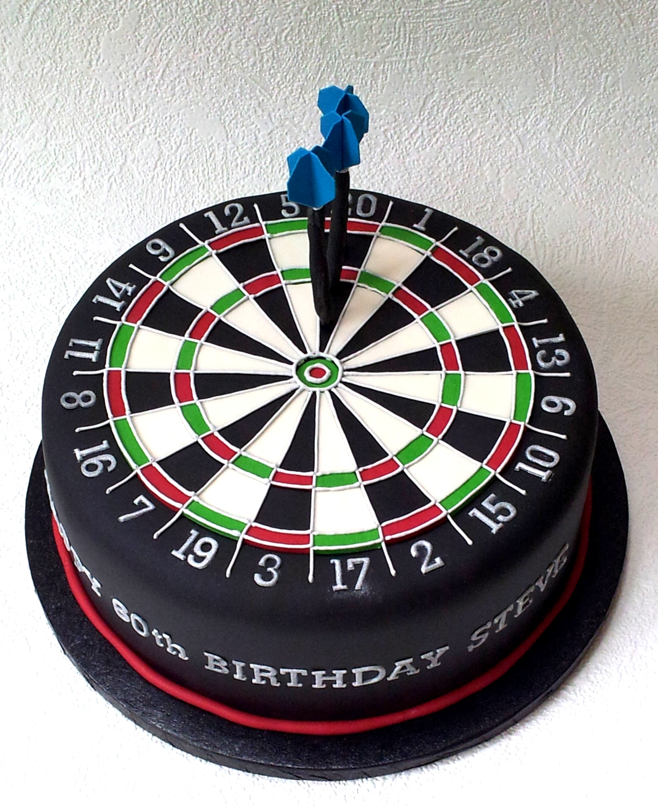 Dartboard birthday cake