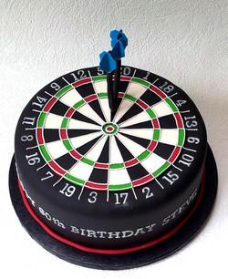 Dartboard birthday cake