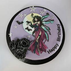 Dark Fairy and Black roses
