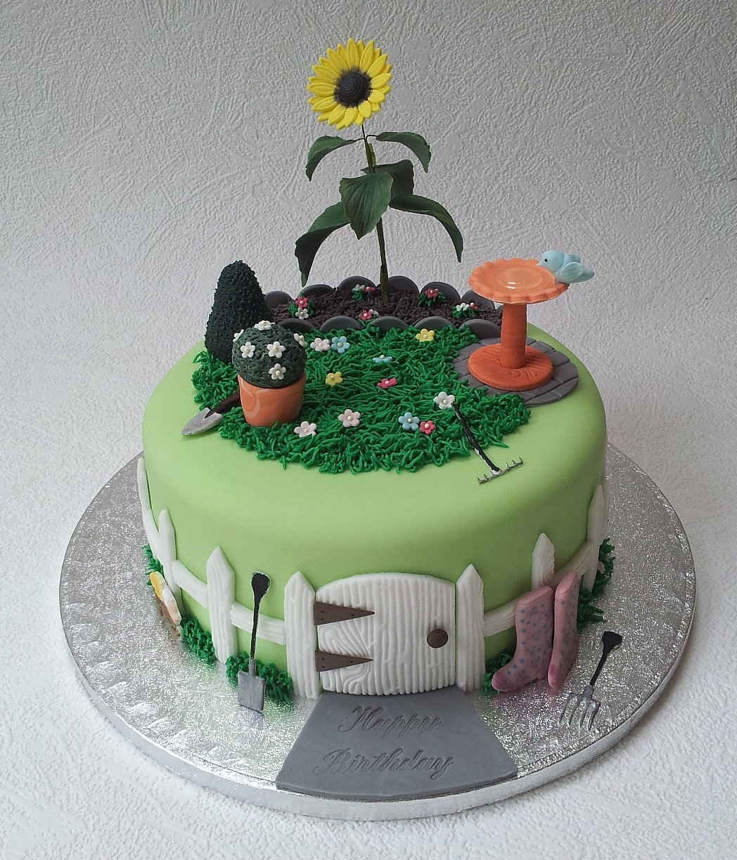 Birthday Cake  Sunflower