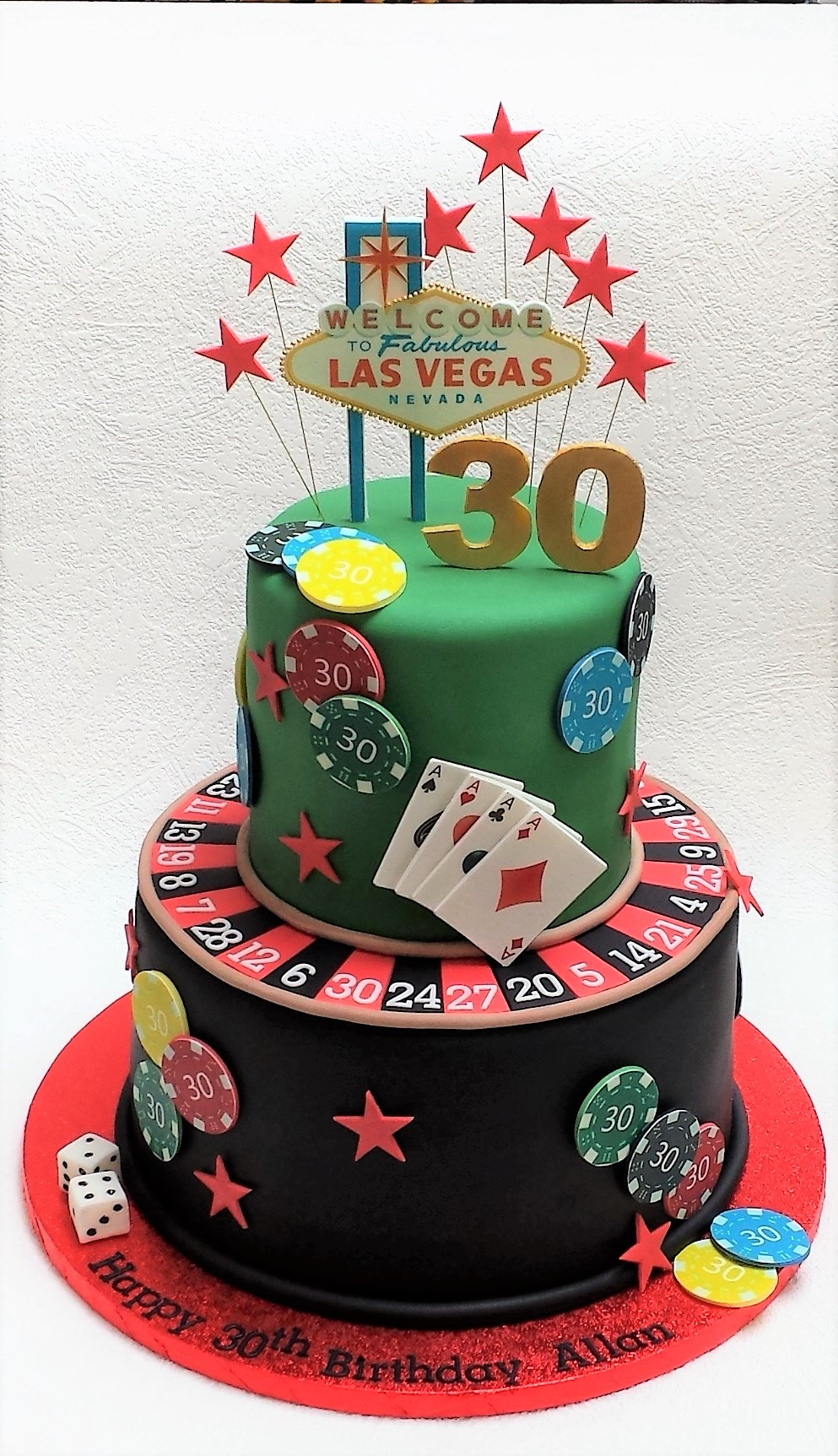 Vegas birthday cake