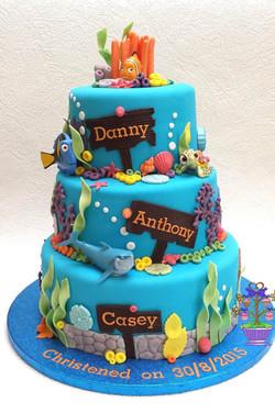 Finding Nemo Christening cake