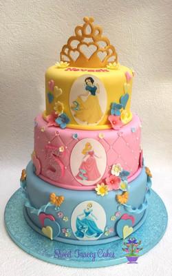 3 tier Disney princess cake