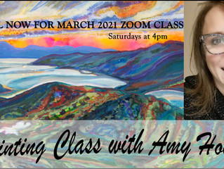 March 2021 Zoom art class dates for your diary!